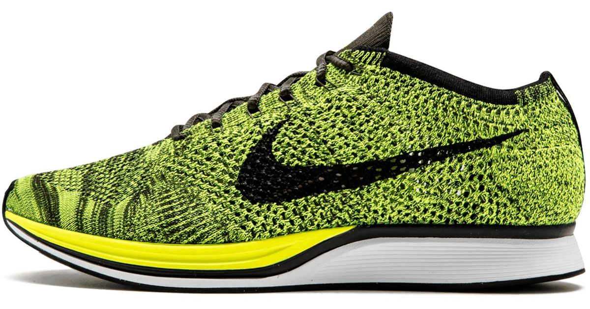 21b91a6c43e83 Nike Flyknit Racer in Green for Men - Lyst