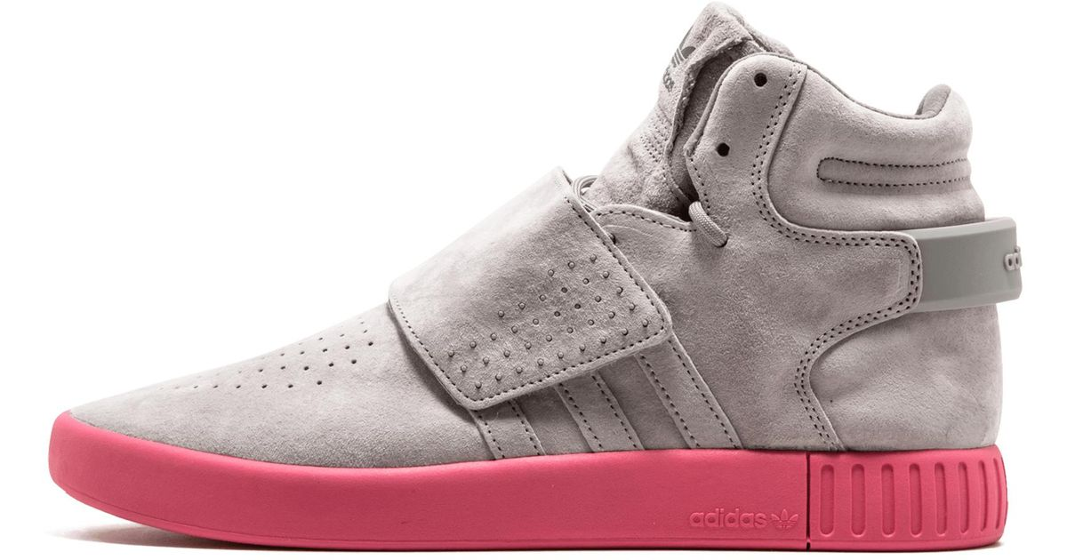 sports shoes b8582 7f803 discount lyst adidas tubular invader strap in pink 16da6 979e1