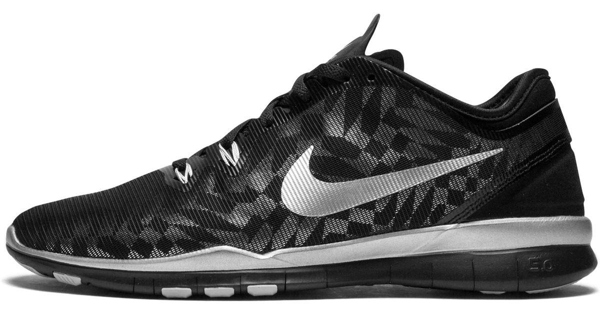 the latest 0a590 79689 Nike - Black Free 5.0 Tr Fit 5 Mtlc W - Lyst