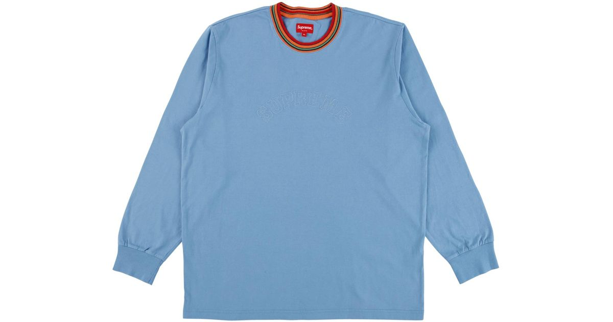 a2c1e055c8 Supreme Multicolor Striped Rib Longsleeve Top 'fw 17' in Blue for Men -  Save 18% - Lyst