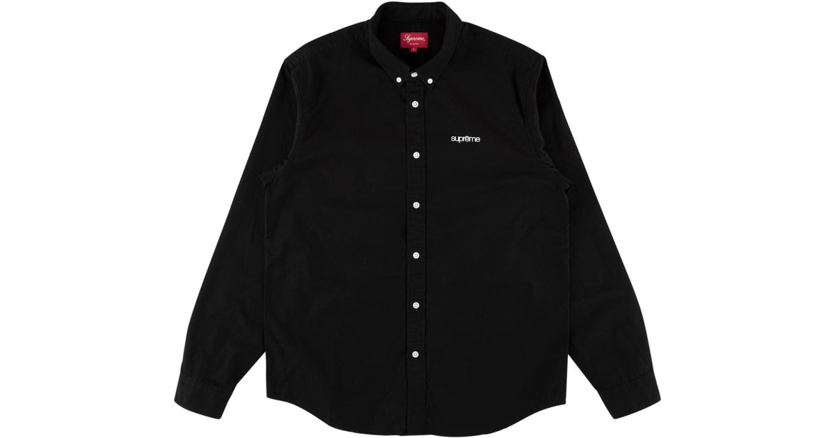 40b8ffb31b69 Supreme Washed Twill Shirt (ss19) Black in Black for Men - Save 58% - Lyst