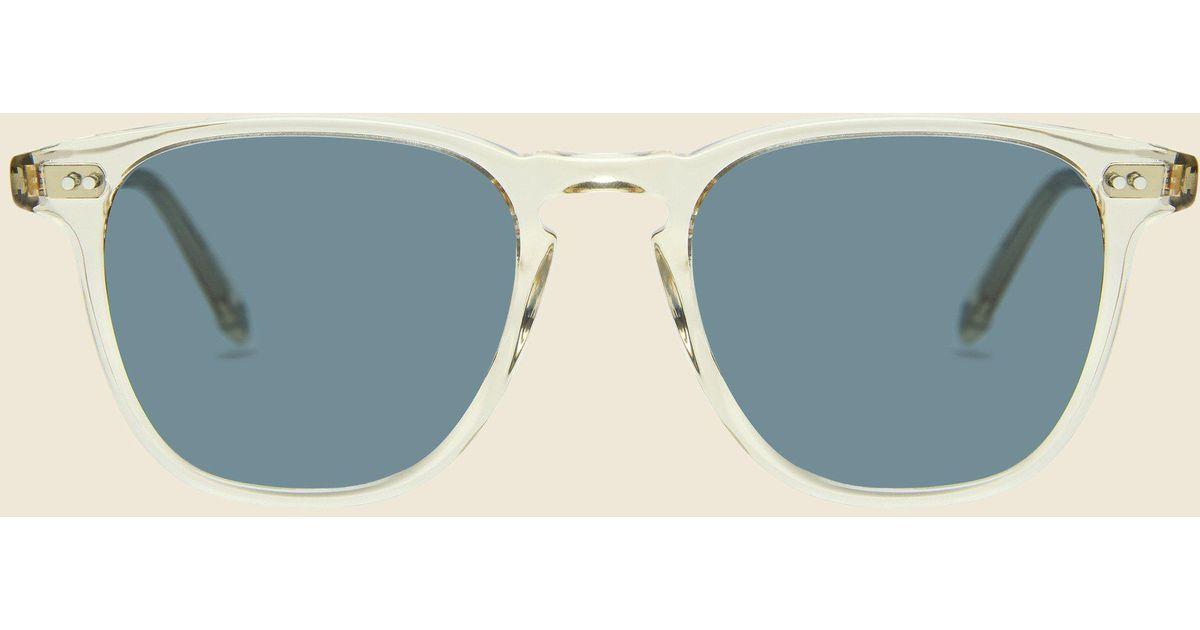 7db9f5a5ff7 Lyst - Garrett Leight Brooks 47mm - Champagne semi-flat Blue Smoke for Men
