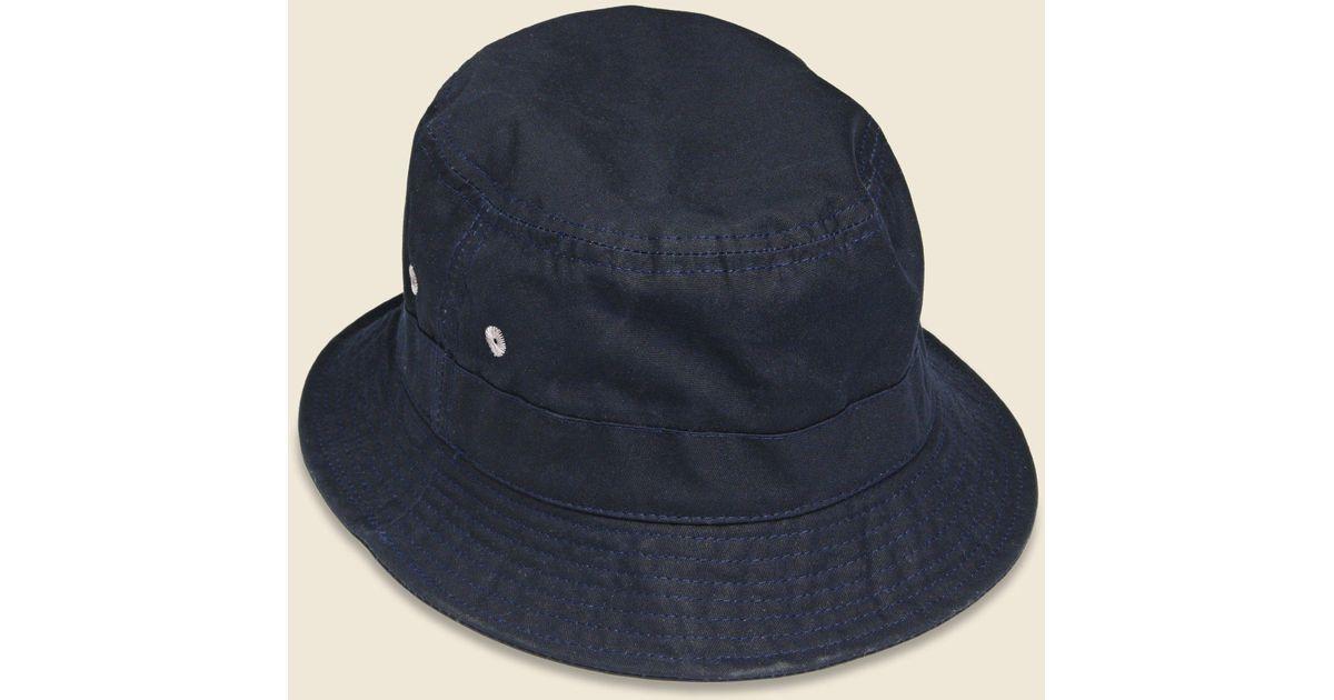 fd10555b208 Lyst - Universal Works - Dry Wax Bucket Hat - Navy in Blue for Men