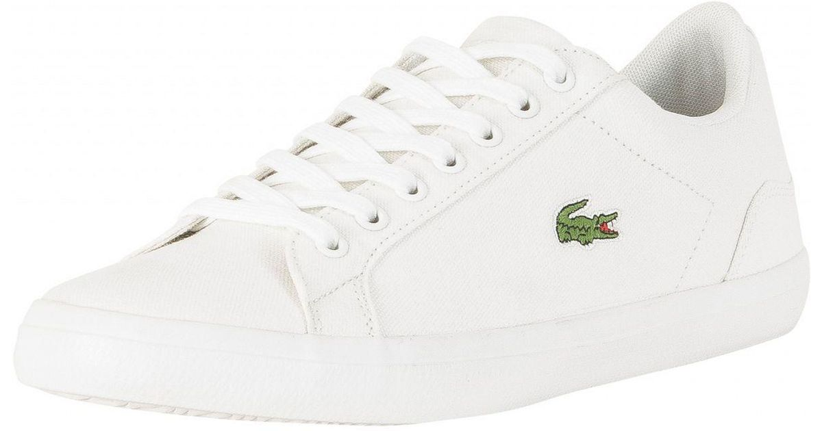 51703a4d2 Lyst - Lacoste White Lerond Bl 2 Cam Trainers in White for Men