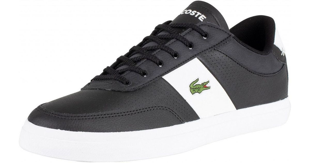 ee9779577 Lacoste Black/white Court-master 119 2 Leather Trainers in Black for Men -  Lyst