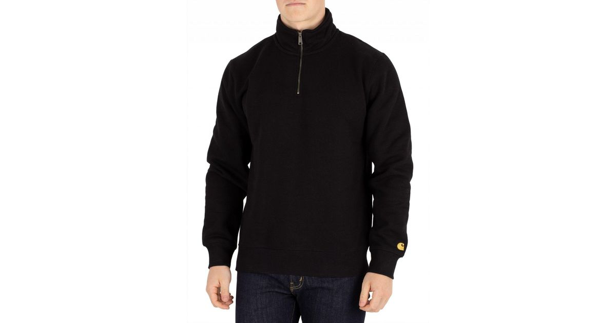 In Sweatshirt Wip Chase Carhartt Blackgold Highneck For Men Black 3ALRqc54j