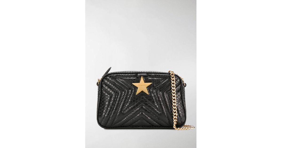 da67349fd9ee Stella McCartney Star Crossbody Bag in Black - Lyst
