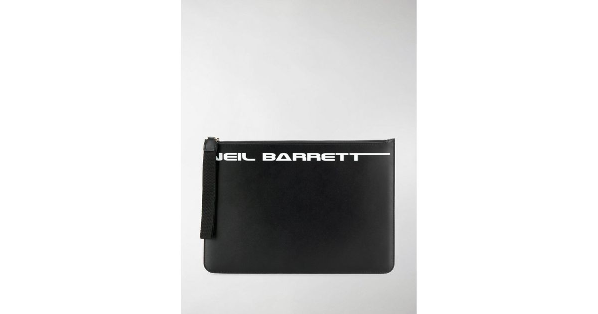 e7acdb7e94f0 Lyst - Neil Barrett Logo Print Zip Pouch in Black for Men