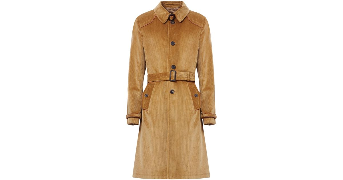 buying now hot-selling clearance available Prada Natural Corduroy Trench Coat for men