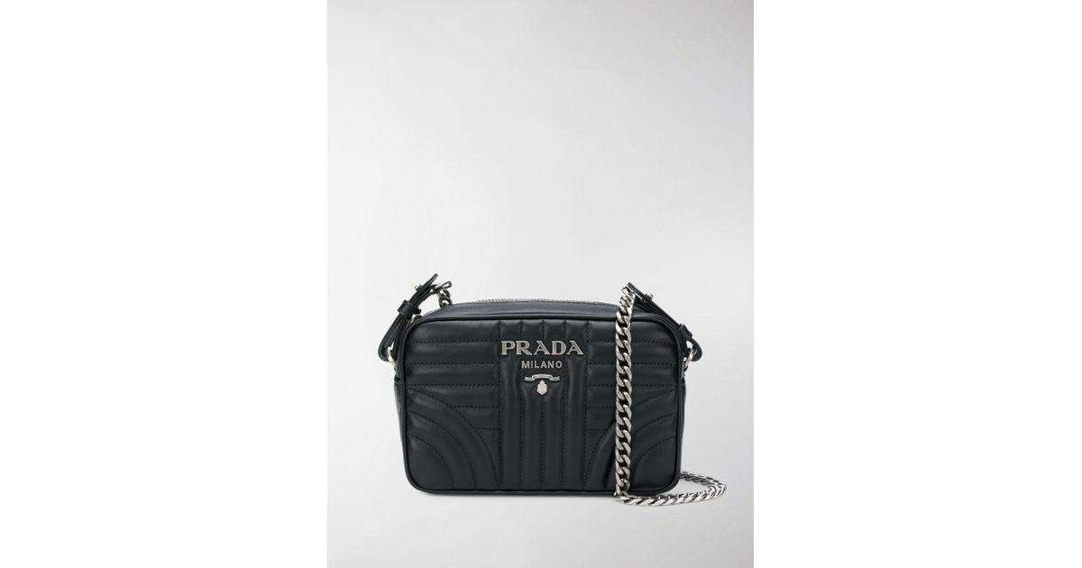 9a0867d7ae16 Prada Diagramme Camera Bag in Black - Lyst