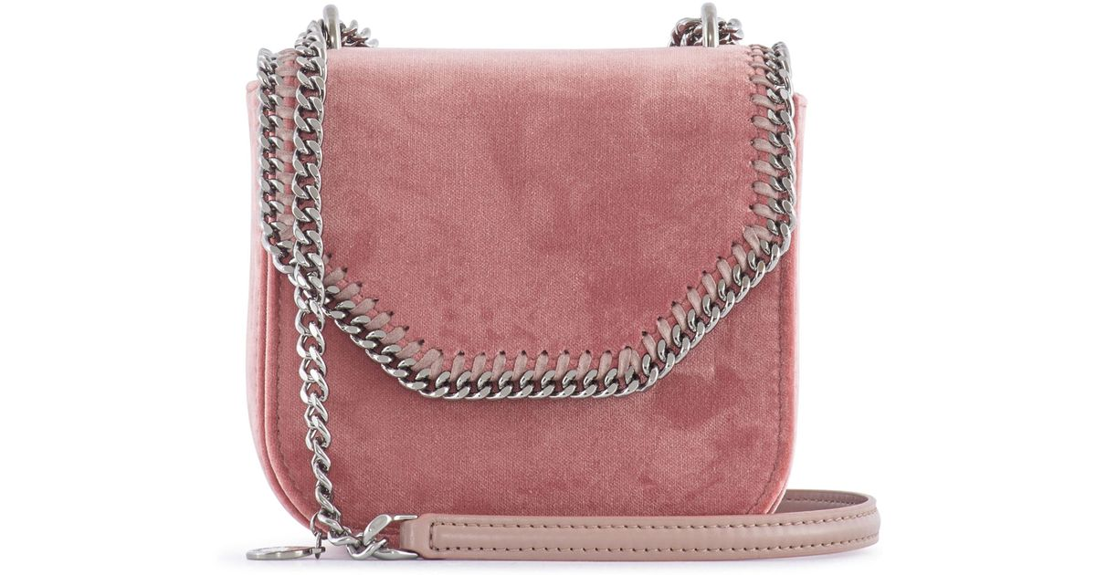 ad2f05e15e36 Lyst - Stella McCartney Falabella Mini Velvet Box Bag in Pink