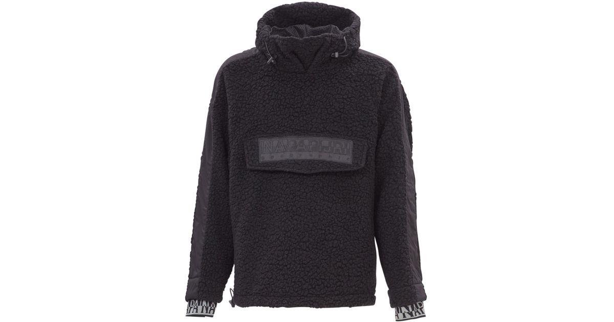 5e3fdd2308224 Napapijri Tyson Fleece Sweatshirt in Black for Men - Lyst