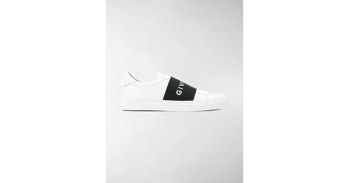 logo strap sneakers - White Givenchy