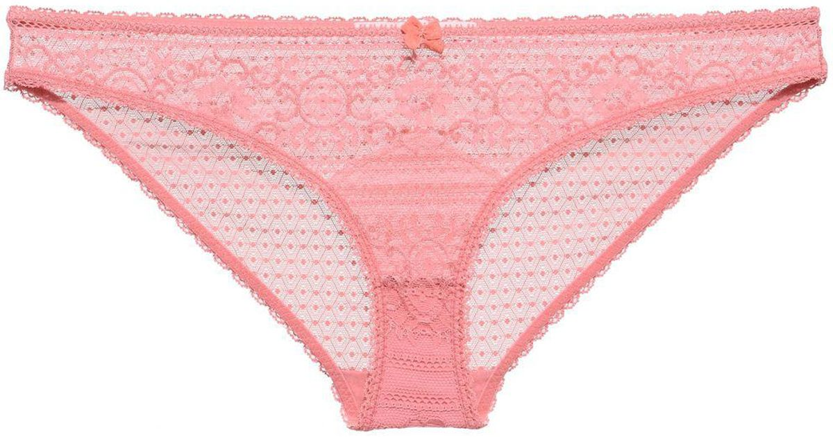 a28a86036390a Lyst - Stella Mccartney Ophelia Whistling Briefs in Pink