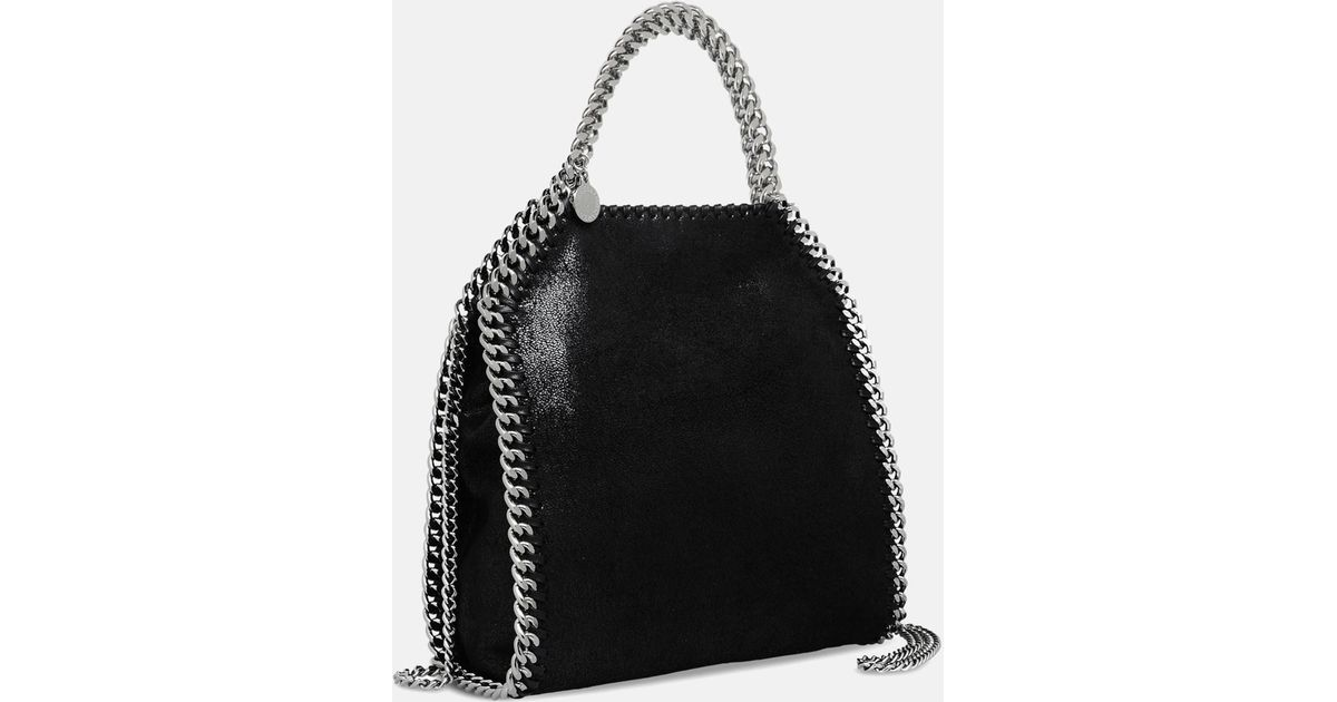098942657ac Lyst - Stella McCartney Falabella Shaggy Deer Mini Tote in Black - Save 13%