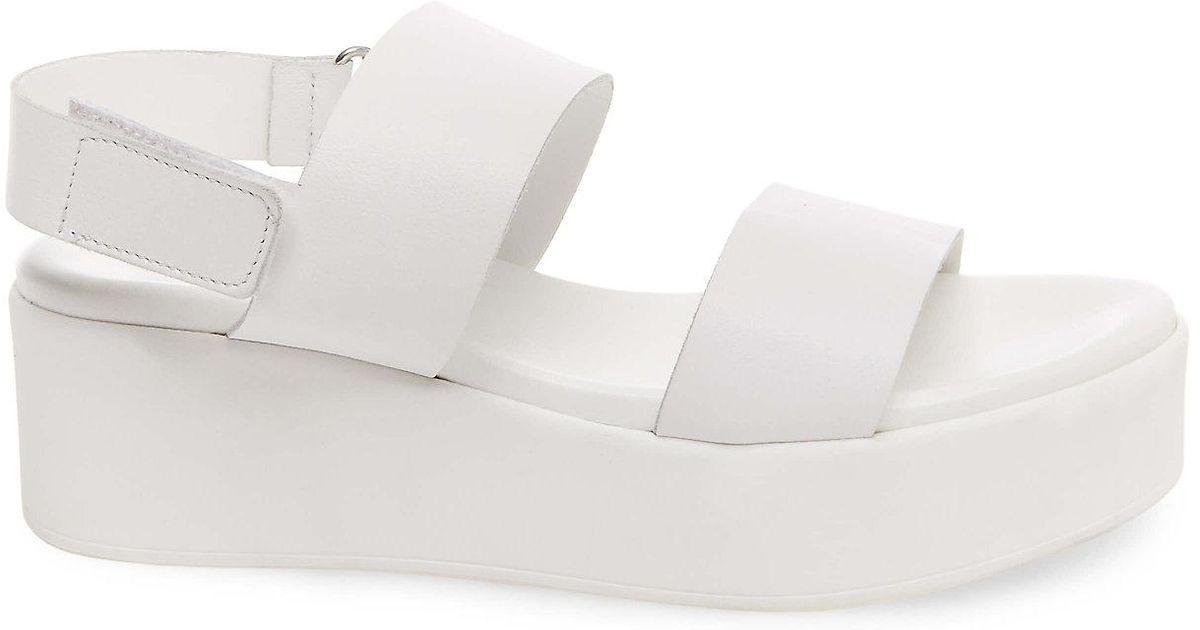 ee88eb02ec5f Lyst - Steve Madden Rachel Wedge Sandal in White