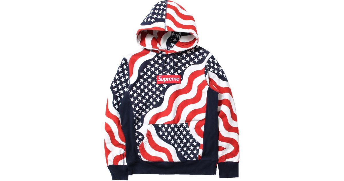 685ff3f94dab Lyst - Supreme Box Logo Pullover Hoodie Multi in Red for Men