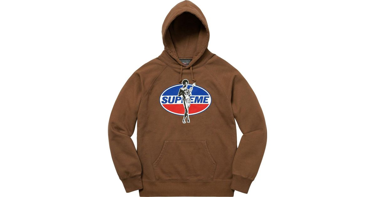 6b8cedcf28ae Lyst - Supreme Hysteric Glamour Hoodie Brown in Brown for Men