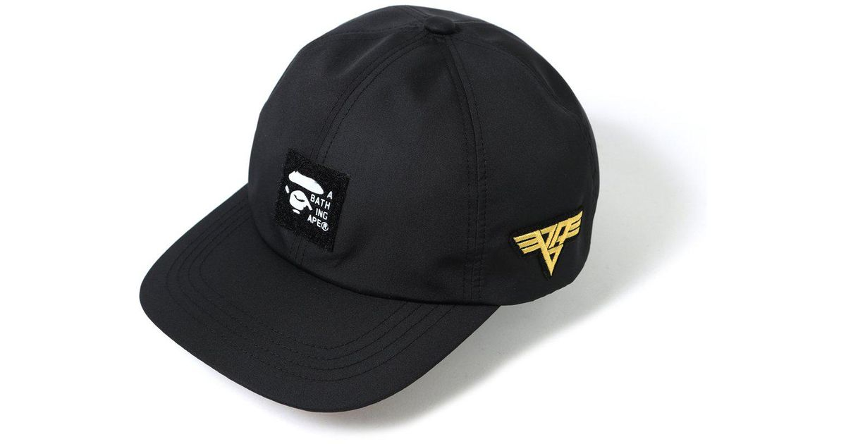 d3a8a6cb31f Lyst - A Bathing Ape Patched Panel Cap Black in Black for Men