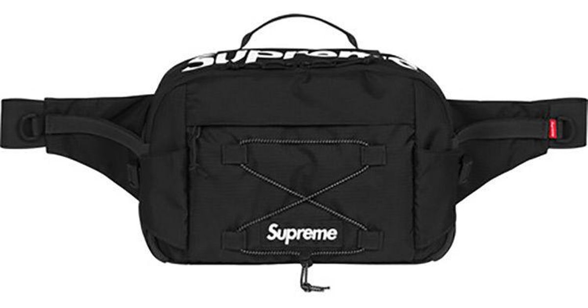 53572a40d174 Supreme Waist Bag Ss17 Black in Black - Lyst