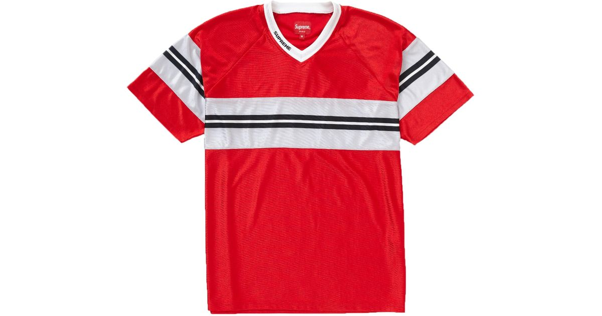 ab54a0b0 Supreme Dazzle Chest Stripe Ss Top in Red for Men - Save 21% - Lyst
