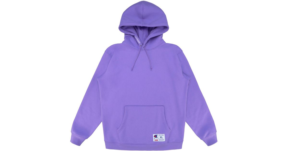 Lyst - Supreme Champion Hooded Sweatshirt (ss18) Light Purple in Purple for  Men 97ffbb51d