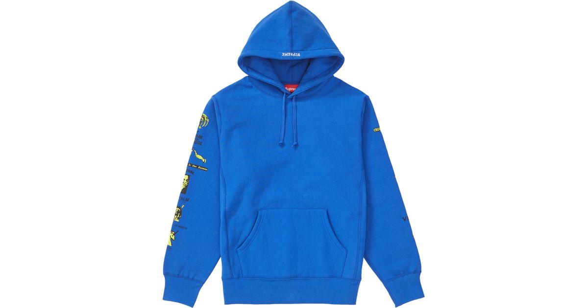 c601c04d Supreme Menace Hooded Sweatshirt Royal in Blue for Men - Lyst