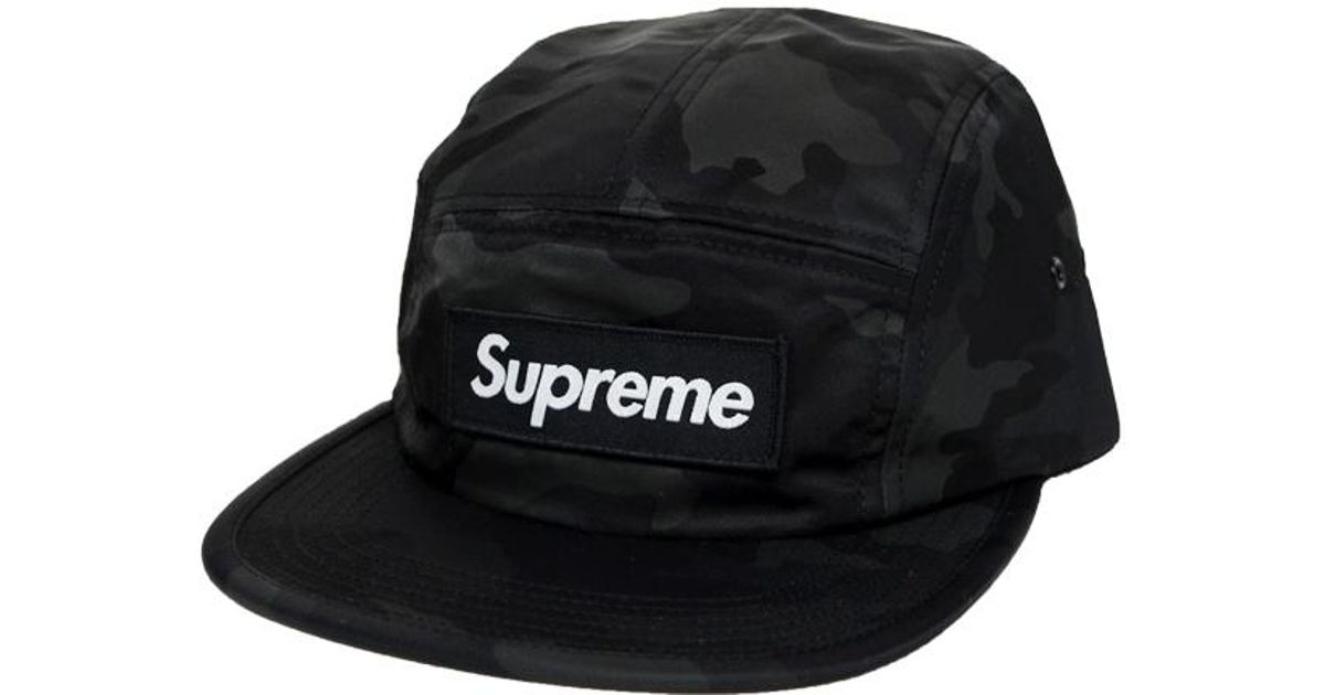 6bae2dbf0af Lyst - Supreme Nylon Camo Camp Cap Black Camo in Black for Men