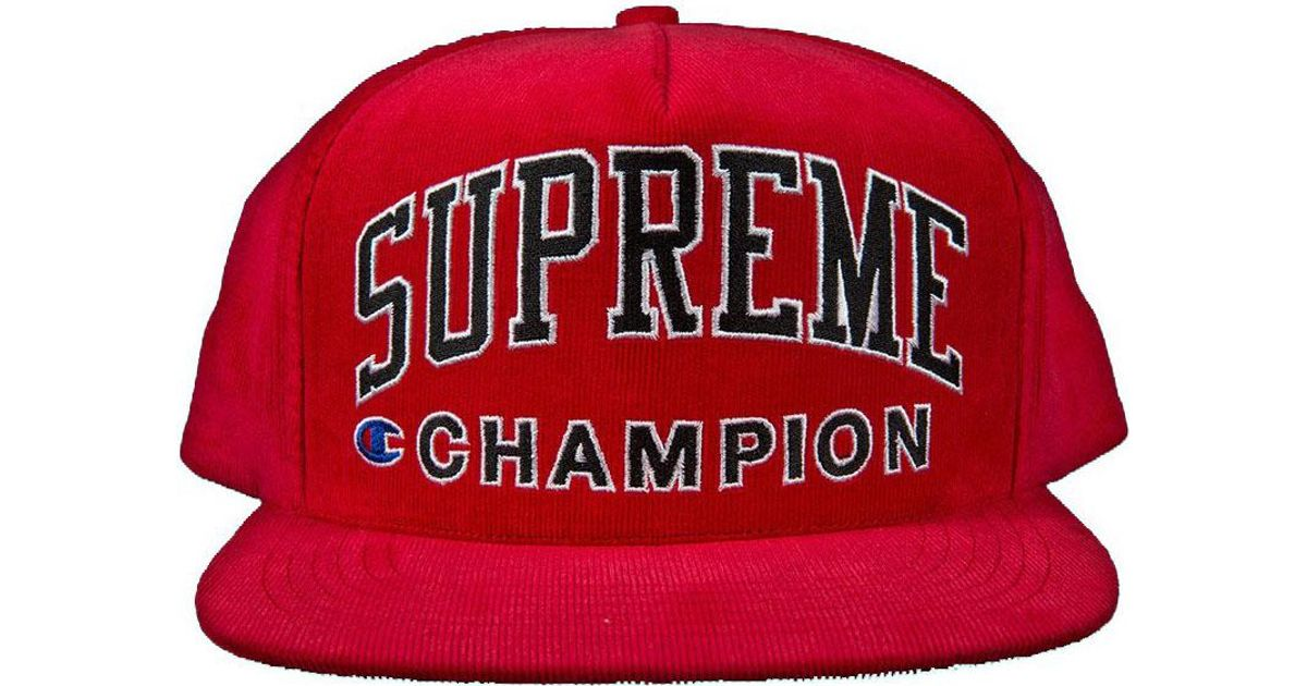 9c7e6042 Supreme Champion 5 Panel Red in Red for Men - Lyst