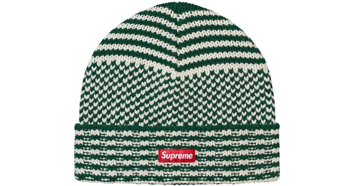 bb2683331bb Lyst - Supreme Wool Jacquard Beanie Dark Green in Green for Men