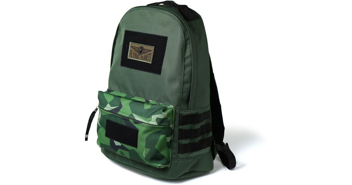 d4456e0f0787fe Lyst - A Bathing Ape Splinter Camo Military Day Pack Olive in Green for Men