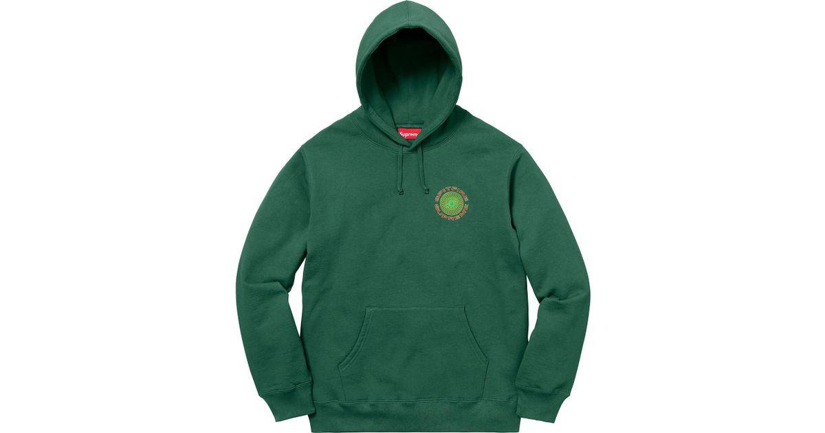 428646e4 Supreme Spitfire Hooded Sweatshirt Dark Green in Green for Men - Lyst