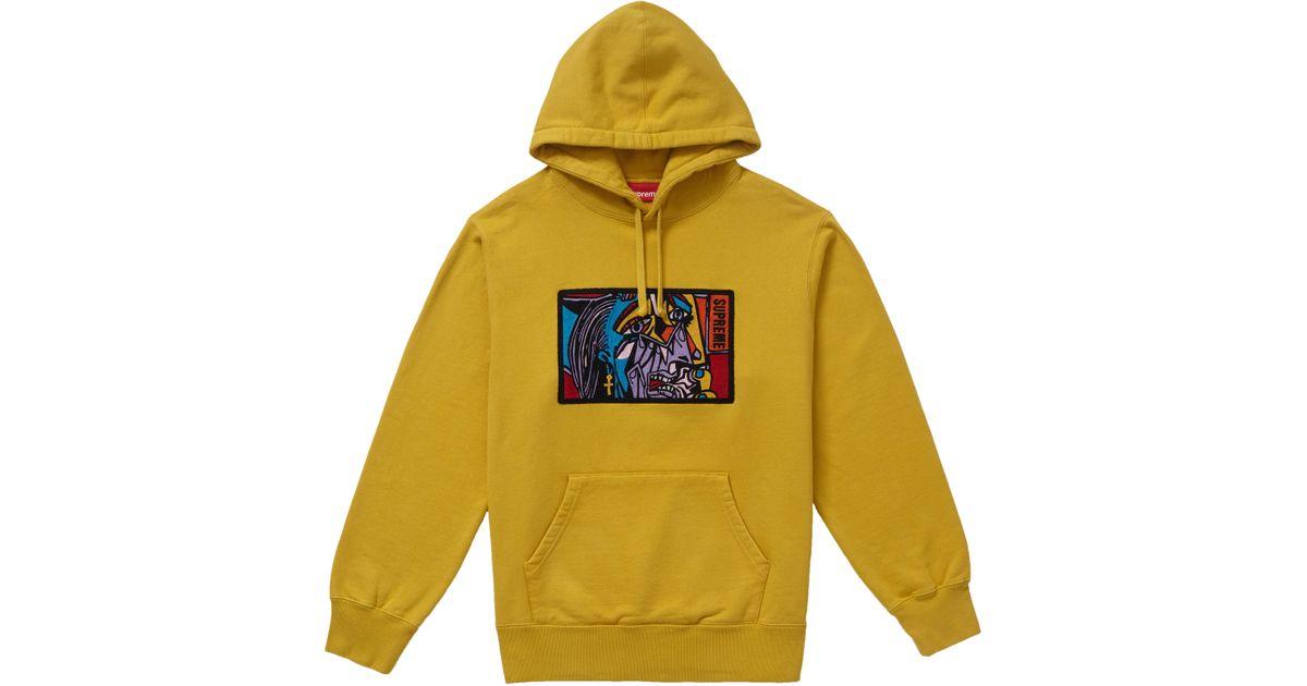 95cdec00 Supreme Chainstitch Hooded Sweatshirt Mustard in Yellow for Men - Lyst