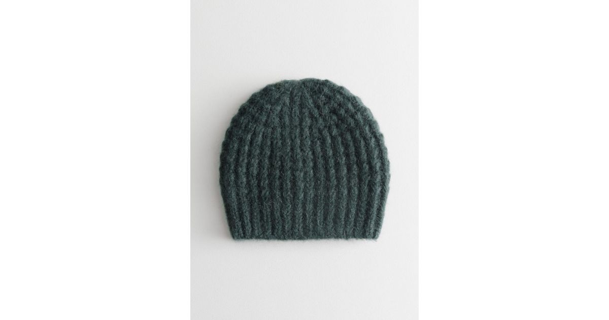 0c238c670a7 Lyst -   Other Stories Cable Rib Knit Beanie in Green