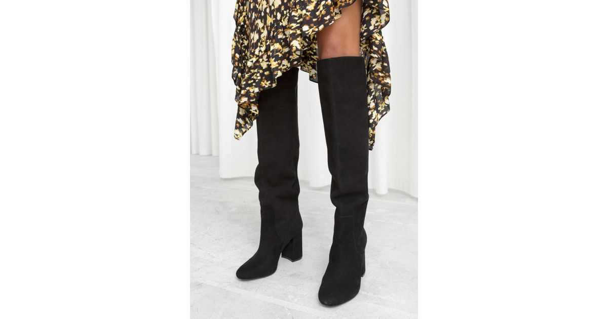 9991435a404 Lyst -   Other Stories Knee High Suede Boots in Black