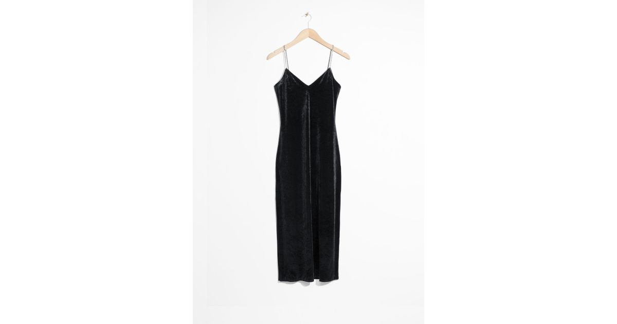 b00b901d87dd   Other Stories Bodycon Dress With Rhinestone Straps in Black - Lyst