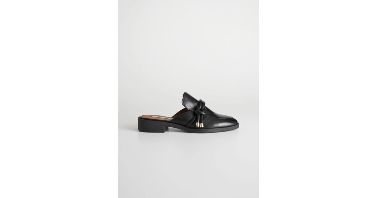 0d659c316e7   Other Stories Reef Knot Loafers in Black - Lyst