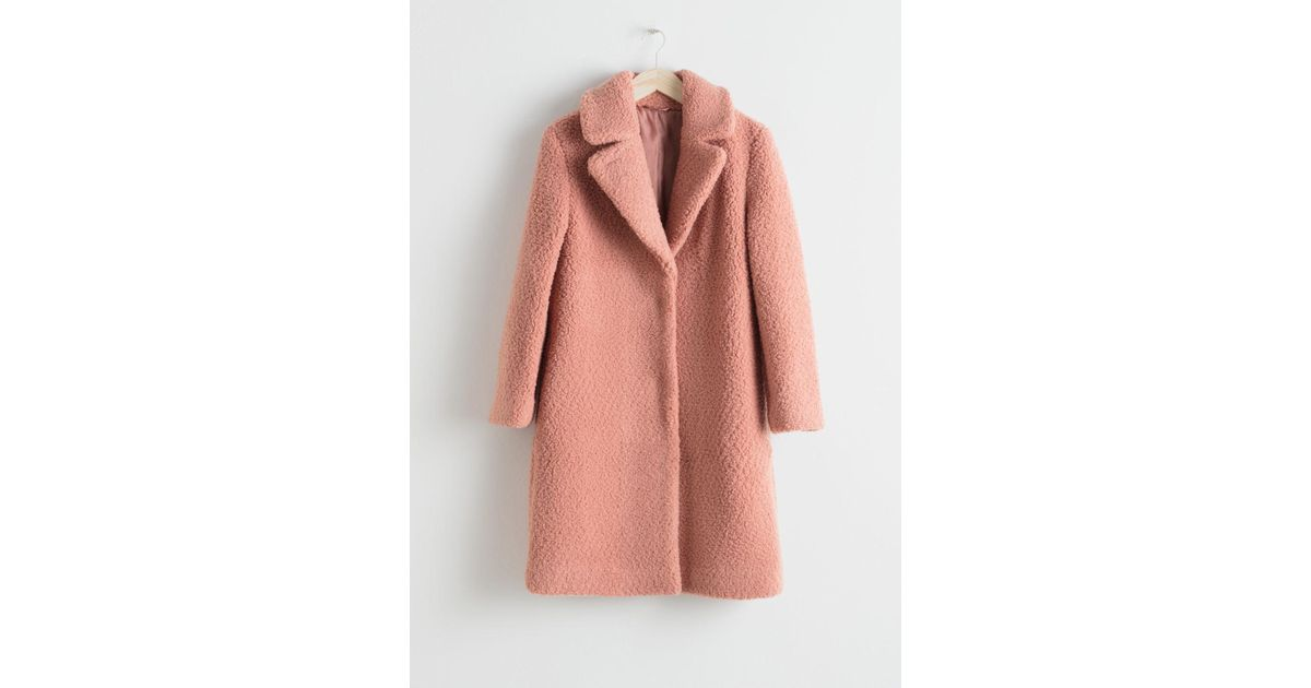 552e0d41 Lyst - & Other Stories Faux Shearling Teddy Coat in Orange
