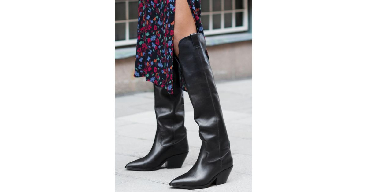 d4b62d625a5 Lyst -   Other Stories Knee High Cowboy Boots in Black