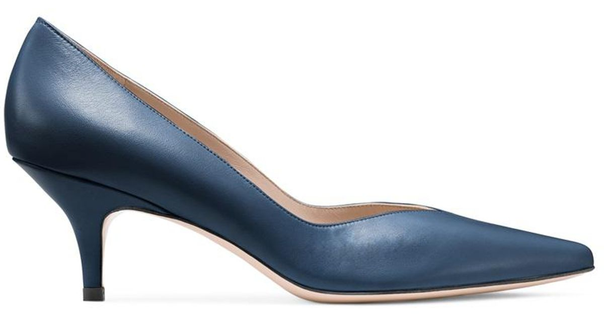 34d42a24bf6 Lyst - Stuart Weitzman The Everyday Pump in Blue - Save 60.0%