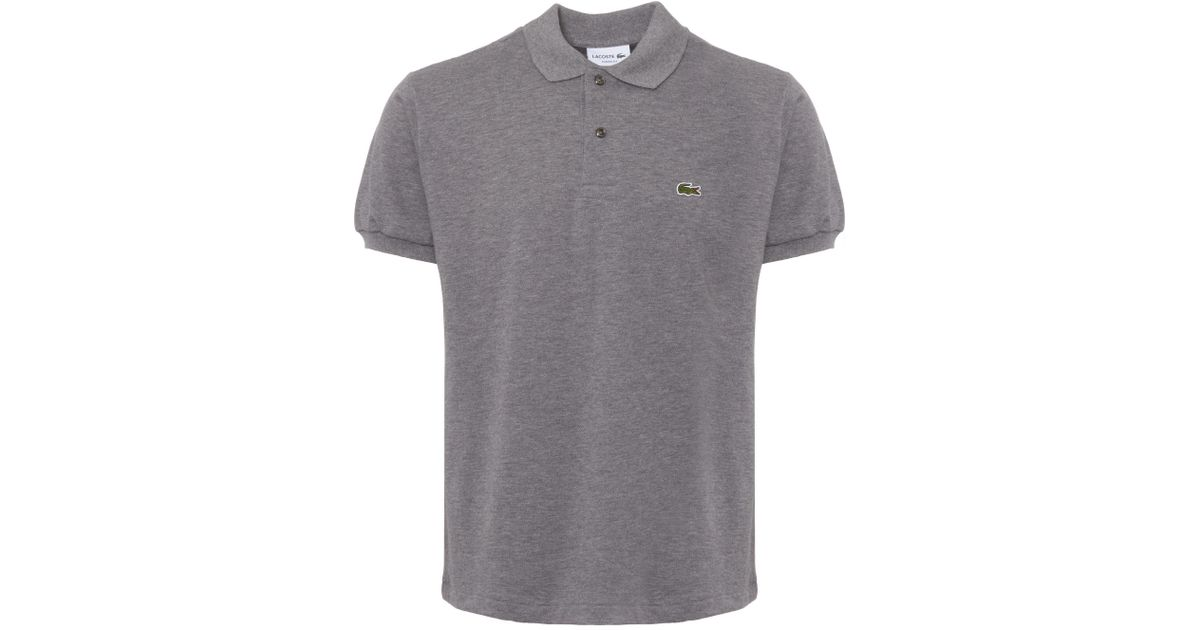 5df3ad6ddfc0 Lacoste Pique Grey Polo Shirt L1264 in Gray for Men - Save 37% - Lyst