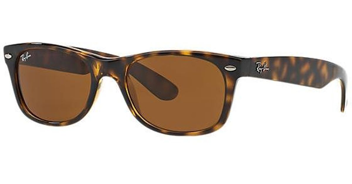 577a69e263a Ray-Ban Tortoise New Wayfarer Classic Sunglasses - Brown Classic B-15 Lenses  for Men - Lyst