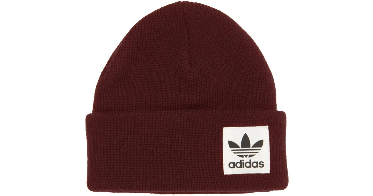 11df90dc868 adidas Originals Collegiate Burgundy High Beanie for Men - Lyst