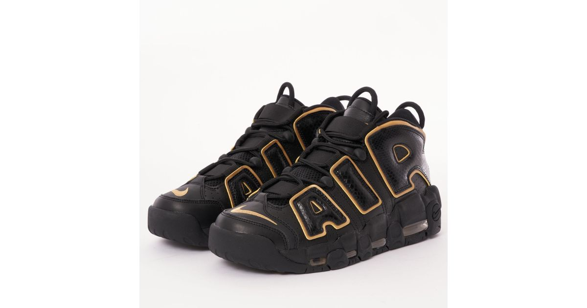 brand new da096 e8c85 Lyst - Nike Air More Uptempo 96 France Qs - Black  Metallic Gold in Black  for Men
