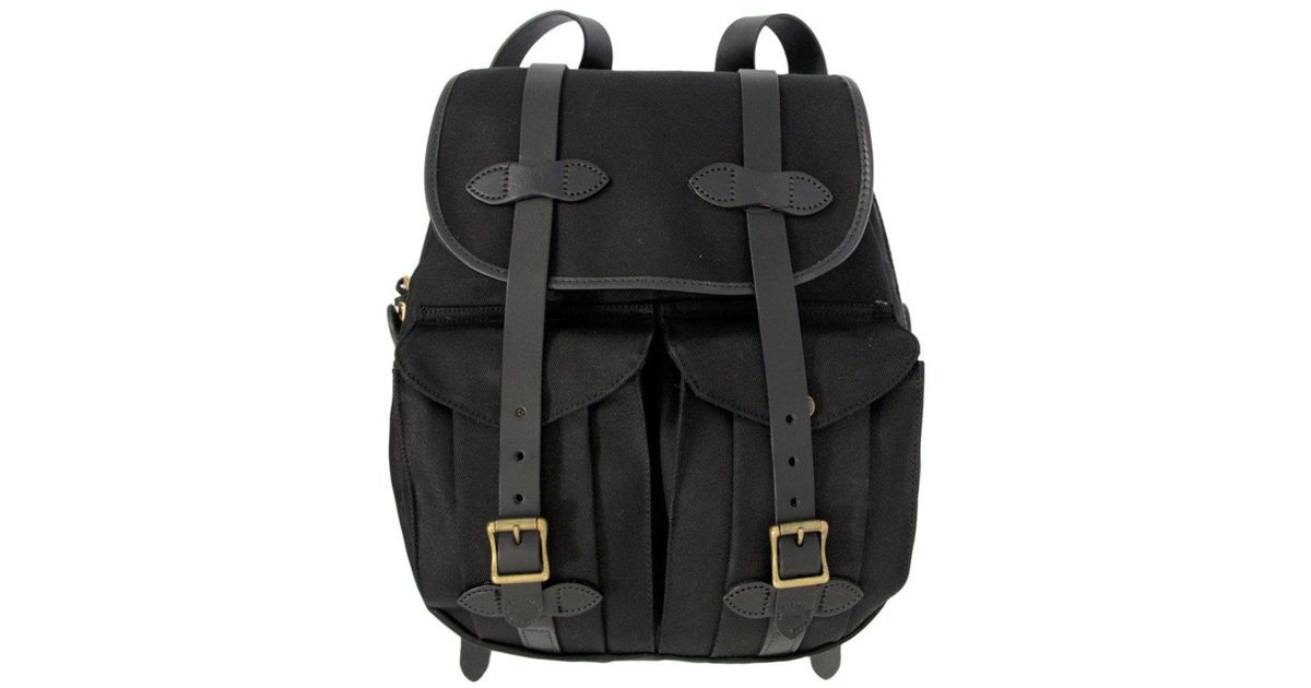 Lyst - Filson Rugged Twill Rucksack - Black in Black for Men - Save 30% a4e840f708