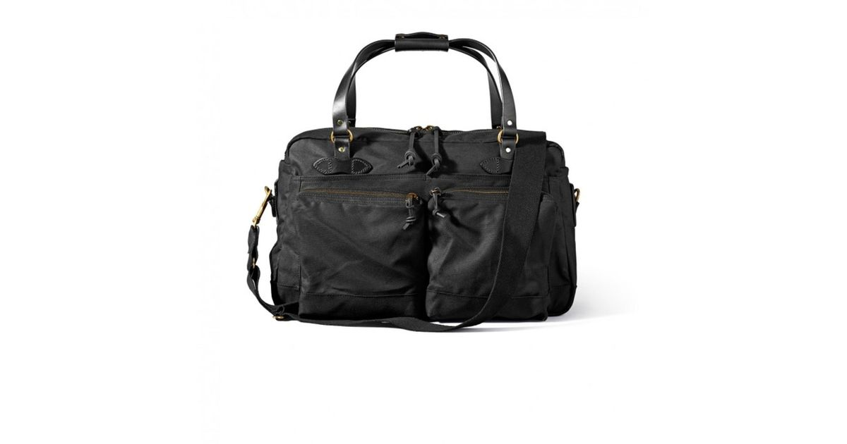 bab344786b Lyst - Filson 48 Hour Tin Cloth Duffle Bag - Black in Black for Men