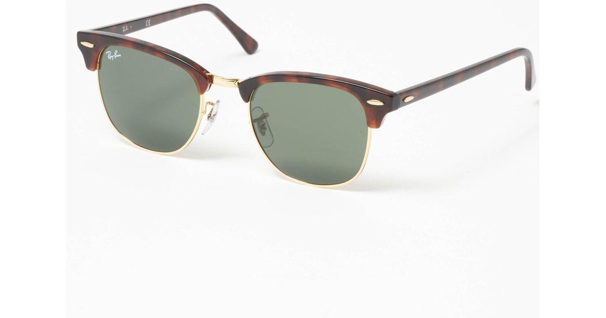 63540dbb8d6 Ray-Ban - Multicolor Tortoise Classic Clubmaster Sunglasses - Classic G15  Lenses for Men - Lyst