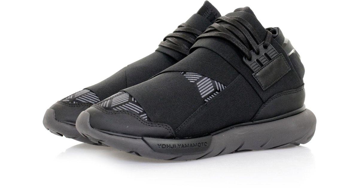 a47650c0bd Lyst - Y-3 Qasa High Utility Black Shoe in Black for Men