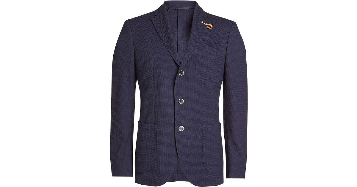 c6fe85523 Lyst - Baldessarini Blazer With Virgin Wool in Blue for Men