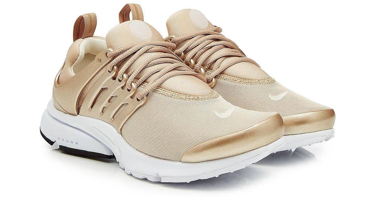 c9eb3883dfcf Lyst - Nike Air Presto Sneakers With Metallic Detail in Metallic